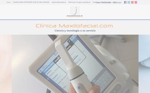 Screenshot of Home Page maxilofacial.cl - Clínica Odontológica | Providencia | Clínica maxilofacial.com - captured Oct. 18, 2018