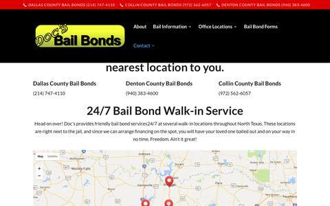 Screenshot of Contact Page docsbailbonds.com - Contact | - captured June 4, 2017