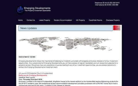 Screenshot of Press Page emdps.com - Emerging Developments News - captured Nov. 6, 2016