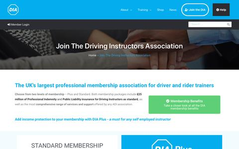 Screenshot of Signup Page driving.org - Join - We have our members in mind | Driving Instructors Association - captured Sept. 26, 2019
