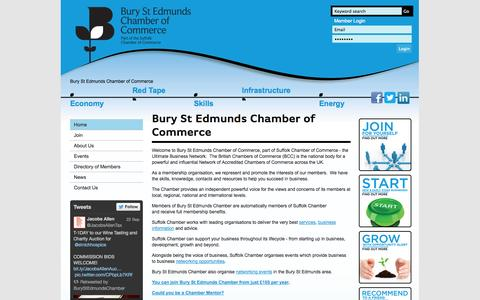 Screenshot of About Page burystedmundschamber.org - Bury St Edmunds Chamber of Commerce / Home - Suffolk Chamber of Commerce - captured Oct. 5, 2014
