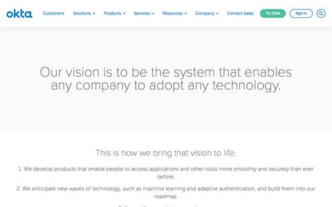 Vision - The Future of Identity and Contextual Access Management | Okta