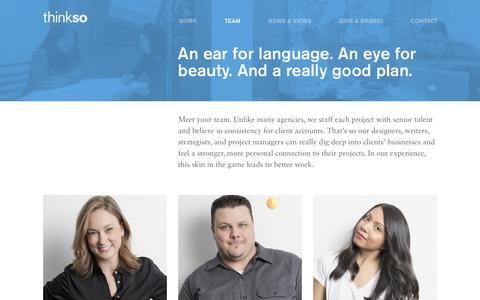 Screenshot of Team Page thinkso.com - Team - Thinkso - captured Dec. 23, 2016