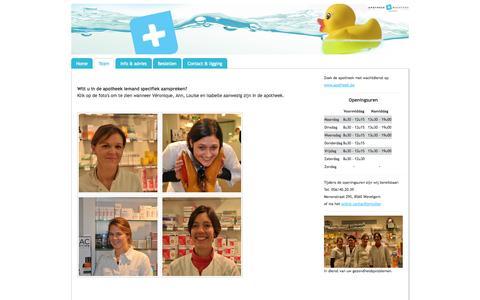 Screenshot of Team Page apomaertens.be - Team - Welkom bij apotheek Maertens! - captured Oct. 4, 2014