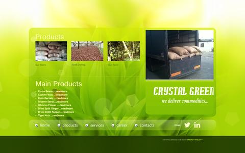 Screenshot of Products Page crystalgreenltd.com - CRYSTAL || PRODUCTS - captured Oct. 3, 2014