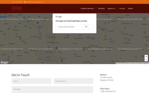 Screenshot of Contact Page dirtrd.com - Contact Us | Dirt Road Design - captured Oct. 9, 2018
