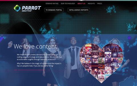Screenshot of About Page parrotanalytics.com - About Us | Parrot Analytics - captured Dec. 7, 2015