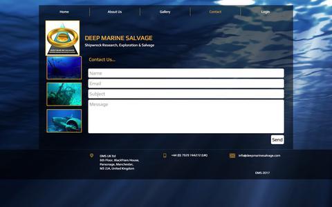 Screenshot of Contact Page deepmarinesalvage.com - DMS Contact - captured Oct. 12, 2017