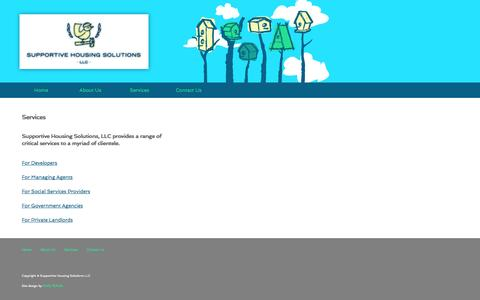 Screenshot of Services Page supportivehousingsolutions.com - Supportive Housing Solutions - captured Oct. 7, 2014