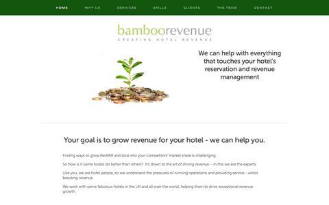 Screenshot of Home Page bamboorevenue.co.uk - Bamboo Revenue - captured Sept. 30, 2014