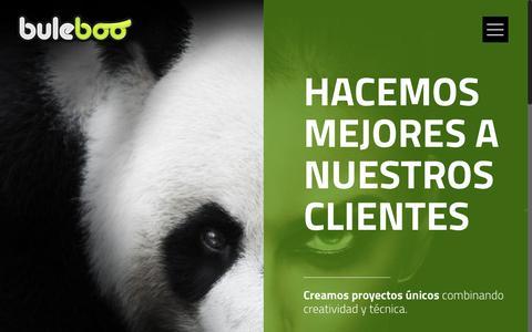 Screenshot of Home Page buleboo.es - Buleboo – Estrategias de marketing digital y comunicación visual - captured Oct. 11, 2017