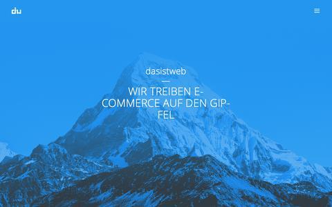 Screenshot of Home Page dasistweb.de - e-commerce & web experts | dasistweb GmbH, Shopware Enterprise Partner Holzkirchen - captured Oct. 13, 2017