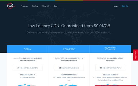 Screenshot of Pricing Page cdn.net - CDN.net Pricing - Low Latency CDN starting at $20 monthly. - captured July 8, 2017