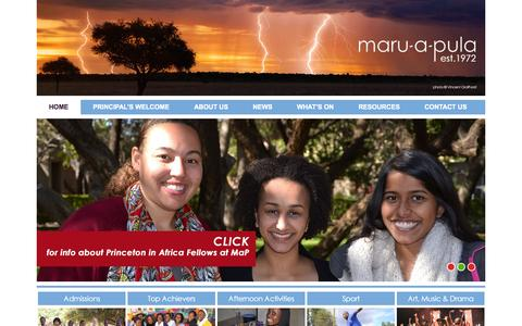 Screenshot of Home Page maruapula.org - Home - Maru-a-Pula School - captured Oct. 6, 2014