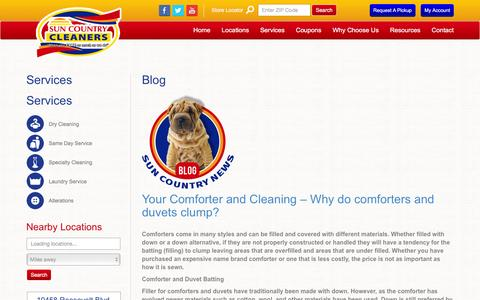 Screenshot of Blog suncountrycleaners.com - Blog Archives - Sun Country Cleaning - captured Feb. 25, 2016