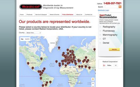 Screenshot of Maps & Directions Page radcal.com - Distributor Finder - captured Feb. 16, 2016