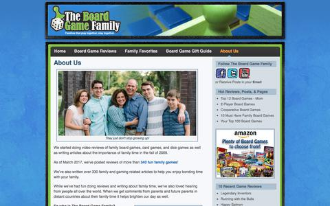 Screenshot of About Page theboardgamefamily.com - The Board Game Family About Us - The Board Game Family - captured June 19, 2017