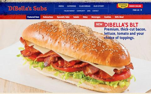 Screenshot of Menu Page dibellas.com - Menu   DiBella's Subs - captured Feb. 9, 2016