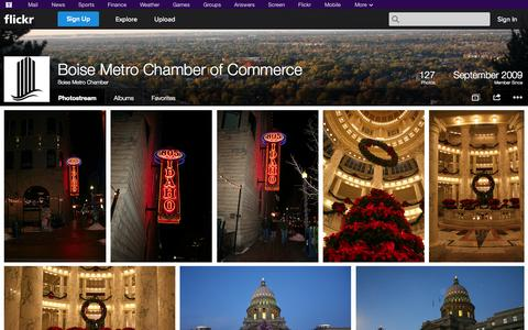 Screenshot of Flickr Page flickr.com - Flickr: Boise Metro Chamber's Photostream - captured Oct. 23, 2014