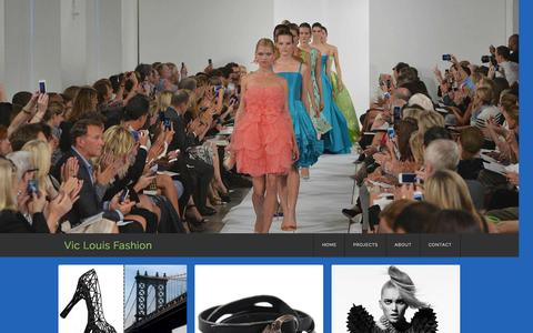 Screenshot of Home Page viclouis.com - Vic Louis Fashion - captured Oct. 7, 2014