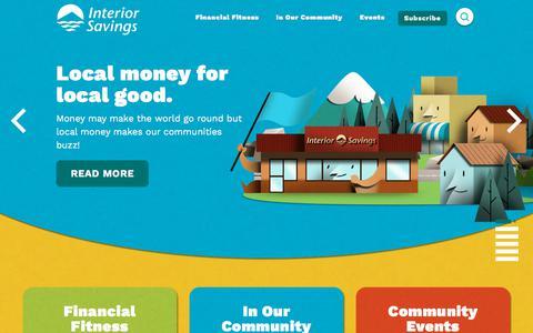 Screenshot of Blog interiorsavings.com - Local Money for Local Good | Interior Savings Credit Union - captured Aug. 2, 2018
