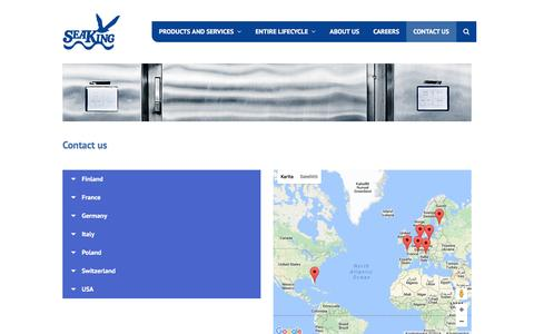 Screenshot of Contact Page seaking.net - Contact us – Seaking - captured Nov. 19, 2016