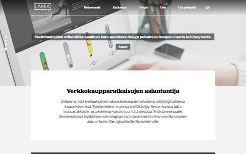 Verkkopalvelut, Magento-verkkokaupat ja web-sovellukset | Lamia