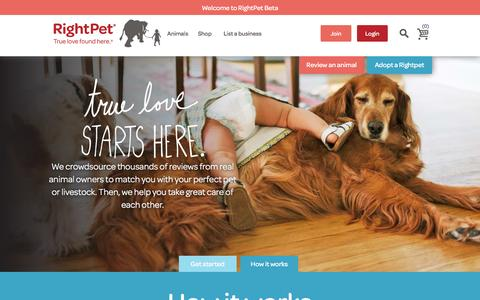 Screenshot of About Page rightpet.com - RightPet How It Works - captured Sept. 18, 2016