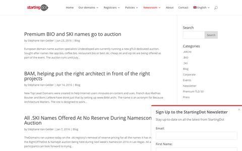 Screenshot of Blog startingdot.com - Starting Dot Blog - captured July 21, 2016