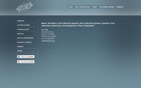 Screenshot of Contact Page gfpuhl.com - Contact G.F. Puhl - captured Nov. 4, 2018