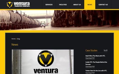 Screenshot of Press Page venturatransfercompany.com - News   Ventura Transfer Company - captured Oct. 9, 2014