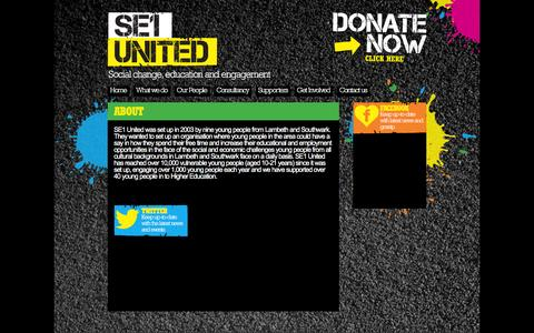 Screenshot of About Page se1united.org.uk - About | SE1 United - captured Dec. 18, 2015