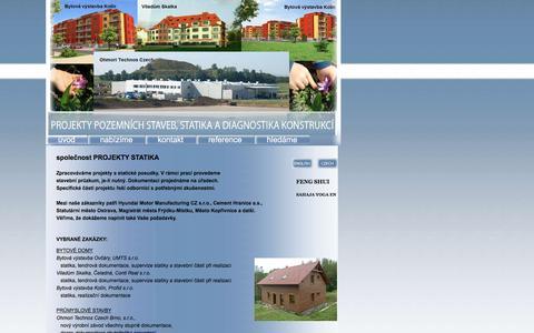 Screenshot of Home Page projektystatika.cz - PROJEKTY STATIKA - captured Jan. 23, 2016