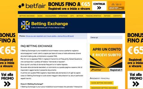 Screenshot of FAQ Page bettingexchange.it - FAQ Betting Exchange - captured Feb. 7, 2016