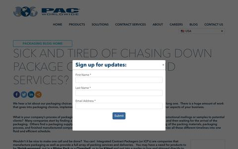 Screenshot of Pricing Page pac.com - Sick and Tired of Chasing Down Package Components and Services? - PAC Worldwide - captured Nov. 5, 2019