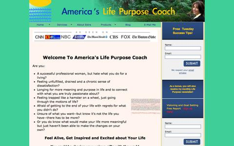 Screenshot of Home Page americaslifepurposecoach.com - Welcome to America's Life Purpose Coach - captured Sept. 30, 2014