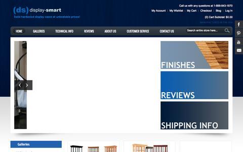 Screenshot of Home Page display-smart.com - Display-Smart Display Cases - captured Oct. 5, 2014