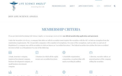 Screenshot of Signup Page lifescienceangels.com - Join Life Science Angels - About LSA Membership - captured Nov. 5, 2018