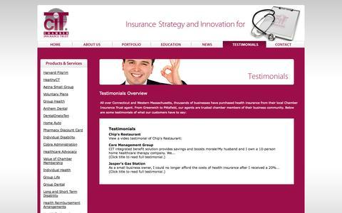 Screenshot of Testimonials Page citrust.com - Testimonials Overview | Testimonials - captured Oct. 2, 2014