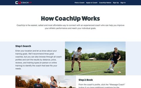 How CoachUp Works | CoachUp