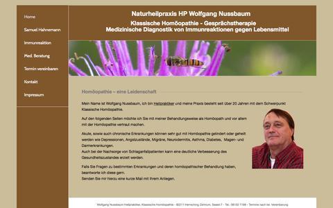 Screenshot of Home Page hp-nussbaum.de - Homöopath | HP Wolfgang Nussbaum - captured June 20, 2015