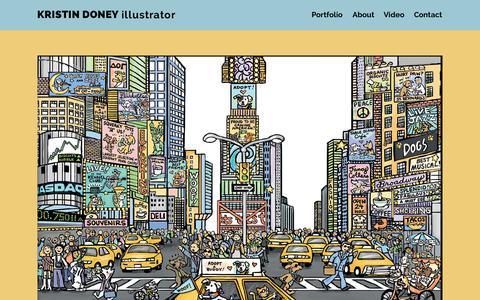 Screenshot of Home Page kristindoney.com - Children's Book Illustrator | Kristin Doney - captured Sept. 29, 2015