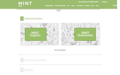 Screenshot of Signup Page mintdc.com - Join Flow – Memberships | MINT DC - captured Nov. 2, 2014