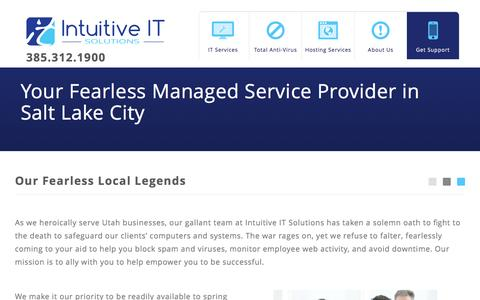 Screenshot of About Page intuitiveits.com - Utah's Fearless Managed Service Provider | Intuitive IT - captured Nov. 26, 2016