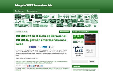 Screenshot of Blog xpert-services.biz - blog de XPERT-services.biz - captured Sept. 16, 2015