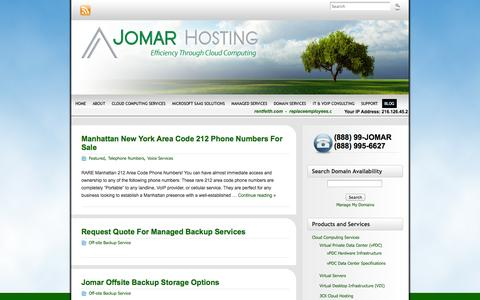 Screenshot of Blog jomarhosting.com - Jomar Hosting Blog | Jomar Hosting - (888) 99-JOMAR - captured Oct. 6, 2014