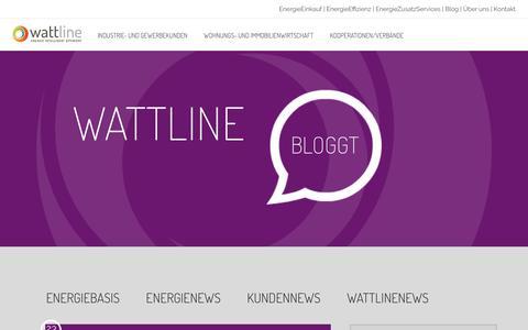 Screenshot of Press Page wattline.de - News Archive - wattline - captured Nov. 29, 2016