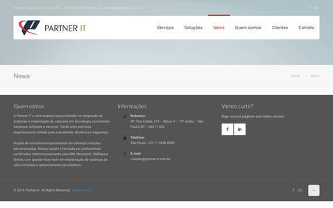 Screenshot of Press Page partner-it.com.br - News - Partner-it - captured May 14, 2017