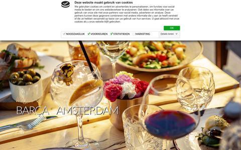 Screenshot of Home Page barca.nl - Barça | Bar Restaurant – Lunch Tapas Diner - captured Oct. 5, 2018