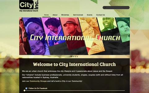 Screenshot of Home Page cityinc.com - City Inc. - captured Oct. 2, 2014